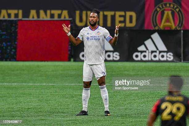 Cincinnati defender Kendall Waston prior to the start of the MLS match between FC Cincinnati and Atlanta United FC on November 1st 2020 at...