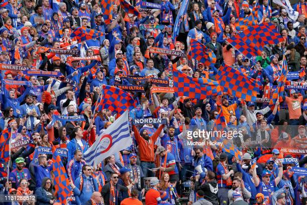Cincinnati fans are seen before the game against the Portland Timbers at Nippert Stadium on March 17, 2019 in Cincinnati, Ohio.
