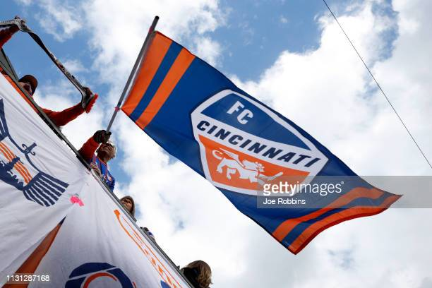 Cincinnati fans are seen during the match against the Portland Timbers at Nippert Stadium on March 17, 2019 in Cincinnati, Ohio. FC Cincinnati won...