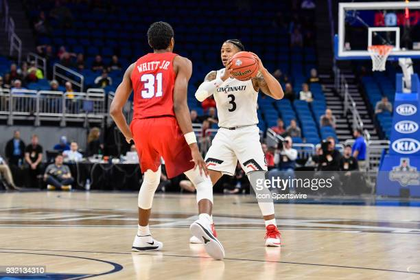 Cincinnati guard Justin Jenifer during the first half of the AAC Men's Basketball Conference Tournament game between Cincinnati and SMU on March 09...