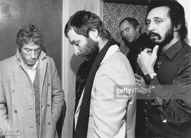 Cincinnati: Members of the Internationally famed English rock'n'roll band The Who prepare to leave the Stouffer's hotel for their next concert in...