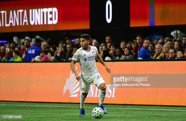 Cincinnati midfielder Frankie Amaya looks to pass the ball during the match against Atlanta United, which Atlanta won, 2-1, in front of a crowd of...