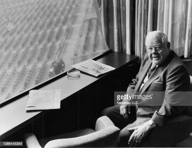 Former New York Jets head coach and general manager Weeb Ewbank is pictured before the Jets Cincinnati Bengals football game at Riverfront Stadium in...