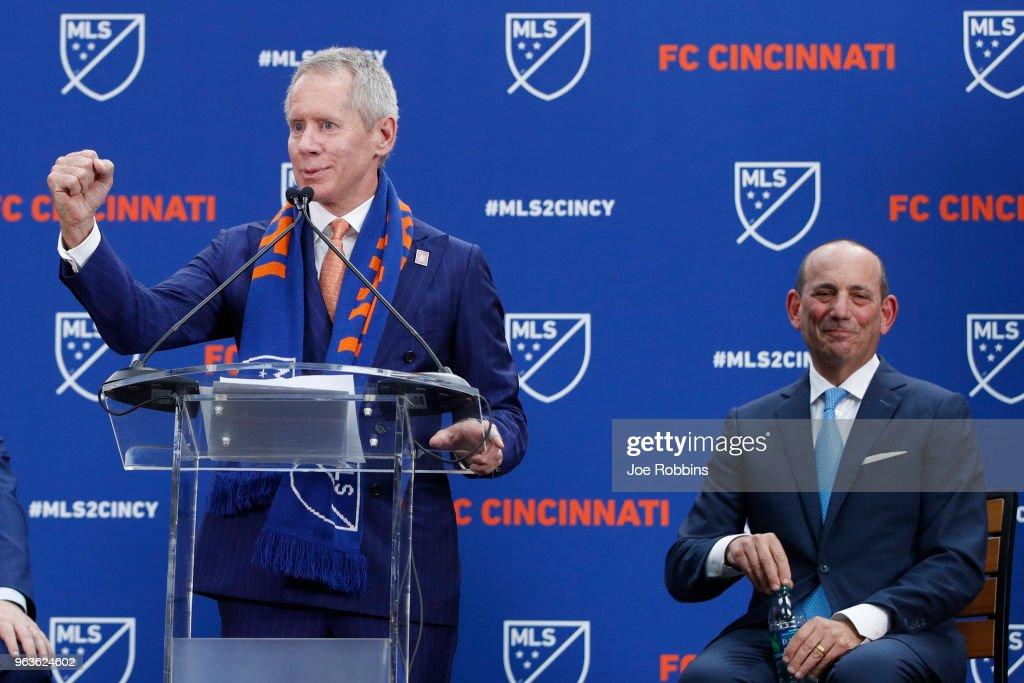 FC Cincinnati Announcement With MLS Commissioner Don Garber