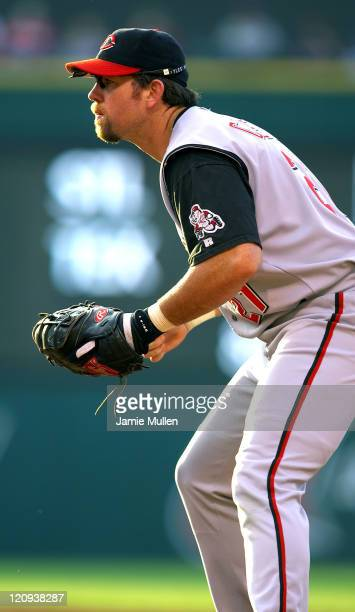 Cincinnati Reds first basemen Shawn Casey stands ready during the first inning against the Cleveland Indians on Saturday June 12 2004 at Jacobs Field...