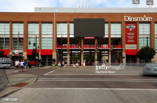 Cincinnati Reds Hall Of Fame at Great American Ballpark home of the Cincinnati Reds baseball team in Cincinnati Ohio on July 29 2019