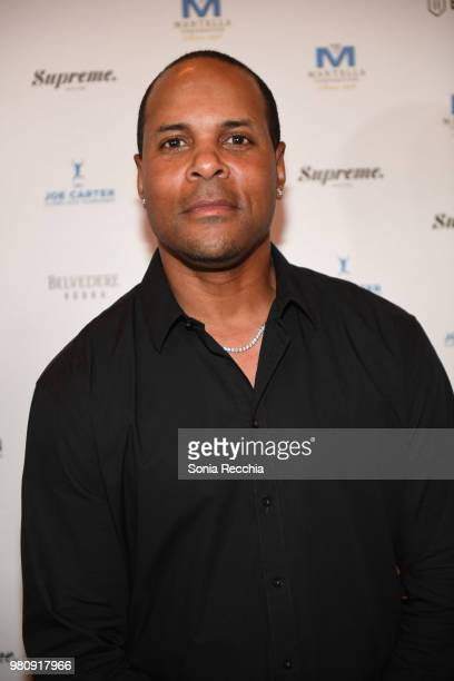 Cincinnati Reds Hall of Fame Legend Barry Larkin attends Joe Carter Classic After Party at Ritz Carlton on June 21 2018 in Toronto Canada