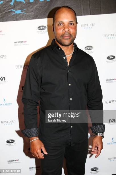Cincinnati Reds hall of fame legend Barry Larkin attends the 10th Annual Joe Carter Classic After Party at REBEL on June 20 2019 in Toronto Canada