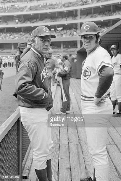 Cincinnati Reds Manager Sparky Anderson with Pete Rose