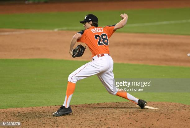 Cincinnati Reds prospect Jimmy Herget of Team USA pitches during the 2017 SiriusXM AllStar Futures Game at Marlins Park on July 9 2017 in Miami...