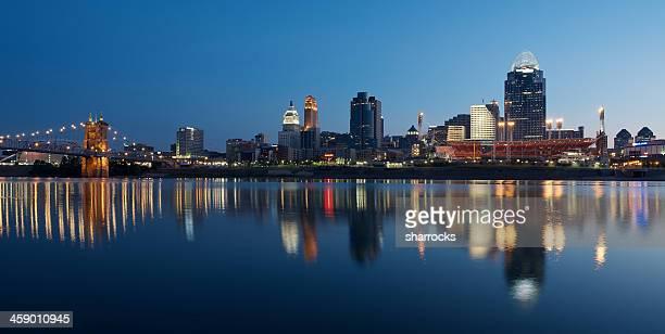Cincinnati skyline at dawn