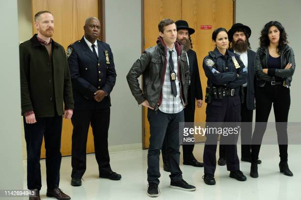 NINE Cinco De Mayo Episode 616 Pictured Marc Evan Jackson as Kevin Cozner Andre Braugher as Ray Holt Andy Samberg as Jake Peralta Winston Story as...