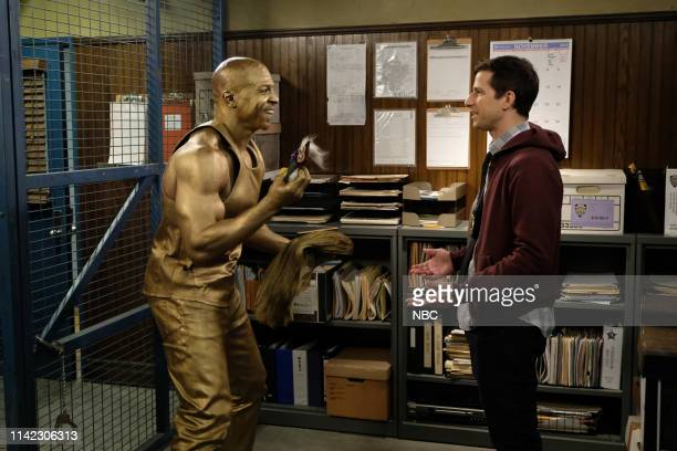 NINE Cinco De Mayo Episode 616 Pictured Terry Crews as Terry Jeffords Andy Samberg as Jake Peralta