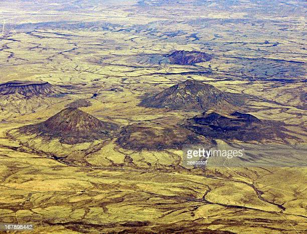 cinder cones - zeesstof stock pictures, royalty-free photos & images