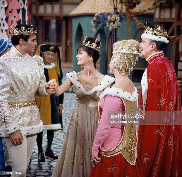 Cinderella a made for TV movie CBS television special originally broadcast February 22 1965 Pictured left to right Stuart Damon Lesley Ann Warren...