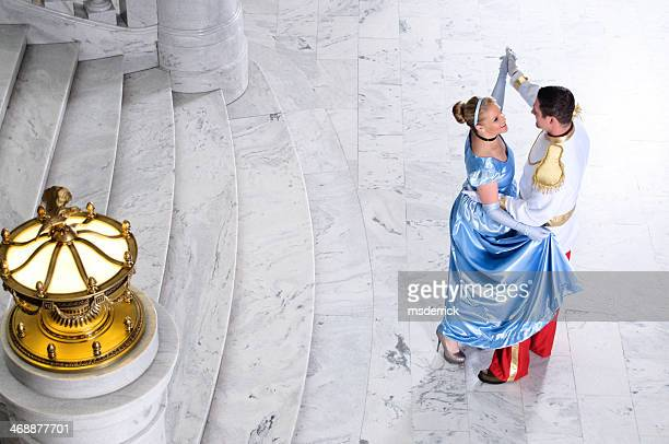 cinderella and prince charming - princess stock pictures, royalty-free photos & images