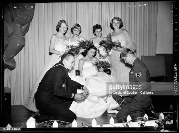 Cinderella Ball Pasadena Athletic Club 27 October 1951 Leah Feland CinderellaAirman Bob Wates Prince CharmingStaff Sergeant Don Howard Prince...