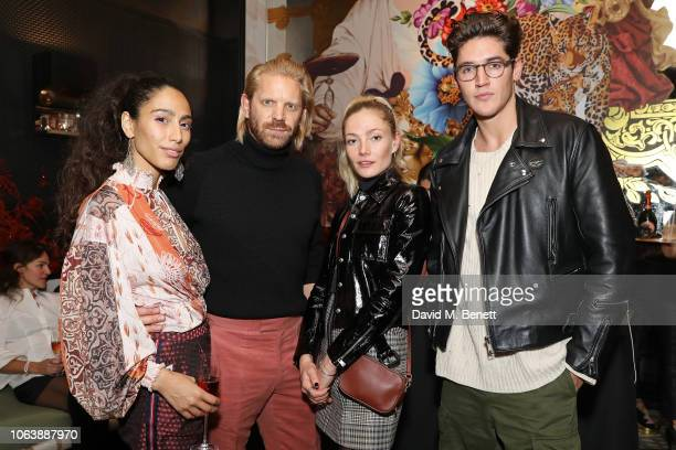 Cinderella Bounoider Alistair Guy Clara Paget and Isaac Carew at Fucina's Festa Italiana on November 20 2018 in London England