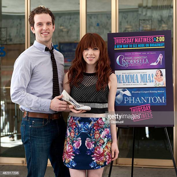 Cinderella cast members Joe Carroll and Carly Rae Jepsen attend the Thursday Matinees Launch at the Broadway Theatre on April 3 2014 in New York City