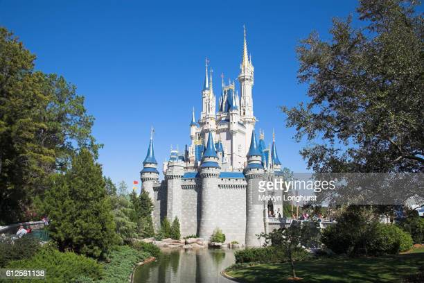 cinderella castle, magic kingdom, disney world, orlando, florida, usa - disney stock pictures, royalty-free photos & images