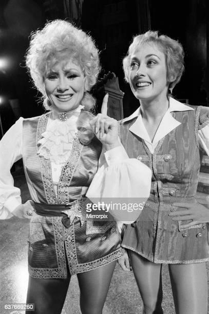 Cinderella Pantomime Photocall Alexandra Theatre Birmingham 20th December 1984 Joyce Blair plays Prince Charming and Paula Wilcox is Dandini