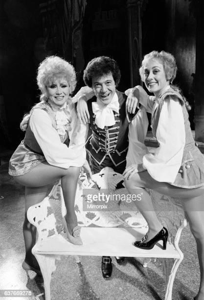 Cinderella Pantomime Photocall Alexandra Theatre Birmingham 20th December 1984 Joyce Blair plays Prince Charming and Paula Wilcox is Dandini with...