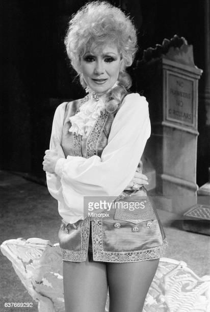Cinderella Pantomime Photocall Alexandra Theatre Birmingham 20th December 1984 Joyce Blair plays Prince Charming
