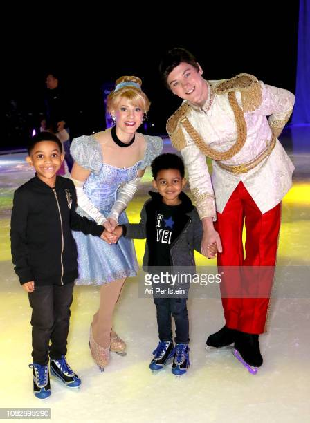 Cinderella Prince Charming and guests attend Disney On Ice Presents Dare to Dream Celebrity Skating Party at Staples Center on December 14 2018 in...