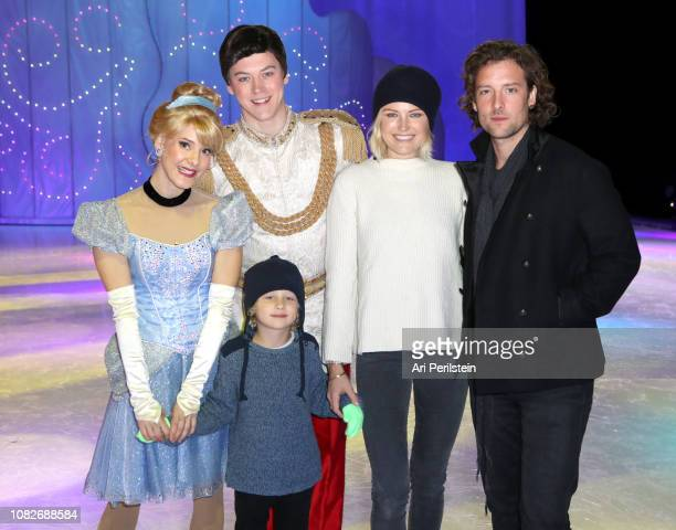 Cinderella Prince Charming Sebastian Zincone Malin Akerman and Roberto Zincone attend Disney On Ice Presents Dare to Dream Celebrity Skating Party at...