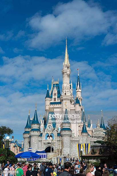 cinderellas castle at walt disney world - chateau stock pictures, royalty-free photos & images
