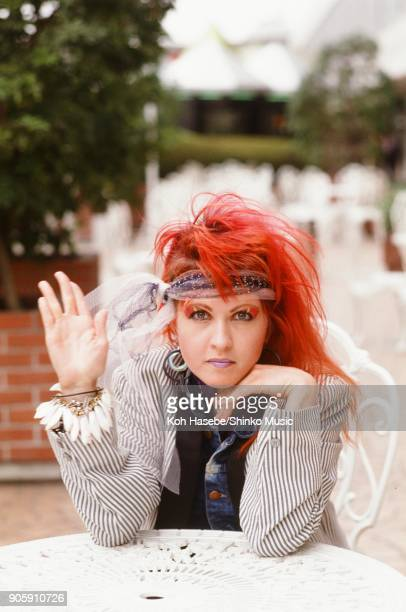 Cindi Lauper taken at an outdoor cafe March 1984 Tokyo Japan