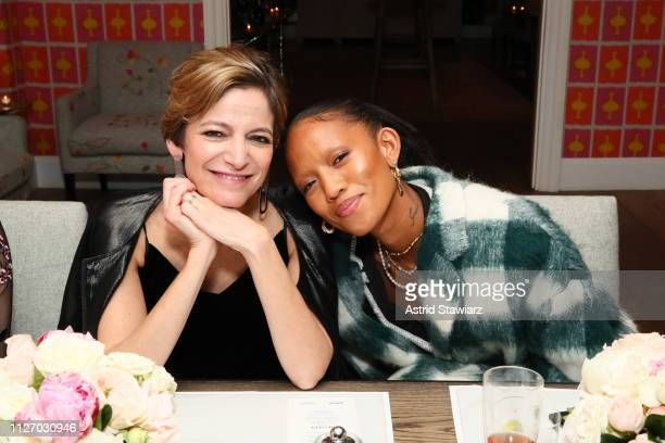 Cindi Leive and Adesuwa Aighewi attend the InStyle Badass Women Dinner Hosted By Taraji P Henson And Laura Brown on February 02 2019 in New York City