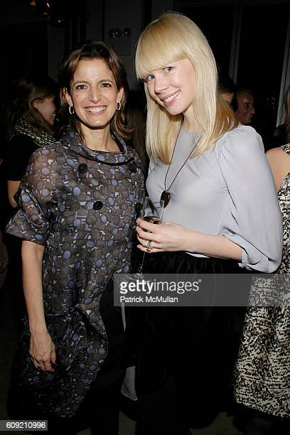 Cindi Leive and Erin Featherston attend GLAMOUR Magazine Fashion Gives Back Party at Milk Studios Penthouse on February 1 2007 in New York City
