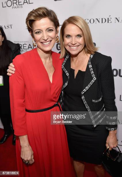 Cindi Leive and Katie Couric attend Glamour's 2017 Women of The Year Awards at Kings Theatre on November 13 2017 in Brooklyn New York