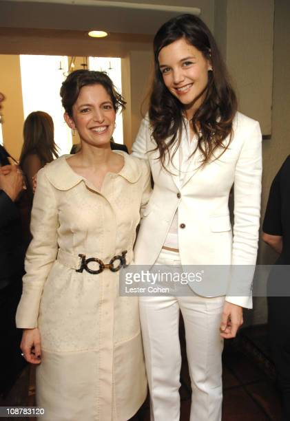Cindi Leive and Katie Holmes during VDay and Glamour Honor Women in Conflict Zones Working For Peace at Campanile in Los Angeles California United...