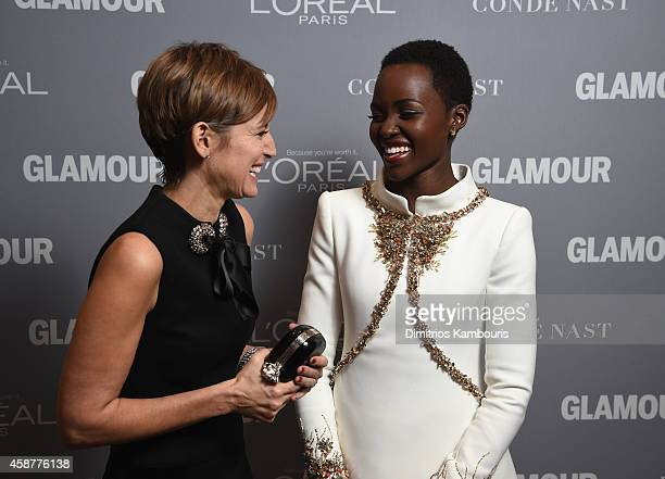 Cindi Leive and Lupita Nyong'o attend the Glamour 2014 Women Of The Year Awards at Carnegie Hall on November 10 2014 in New York City