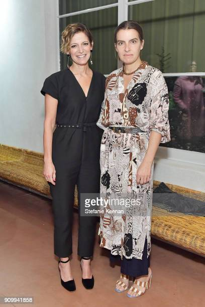 Cindi Leive and Rachel Comey attend Conde Nast The Women's March Organizers Host a Cocktail Party to Celebrate the One Year Anniversary of the March...
