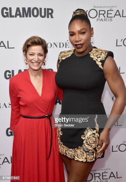 Cindi Leive and Serena Williams attends Glamour's 2017 Women of The Year Awards at Kings Theatre on November 13, 2017 in Brooklyn, New York.