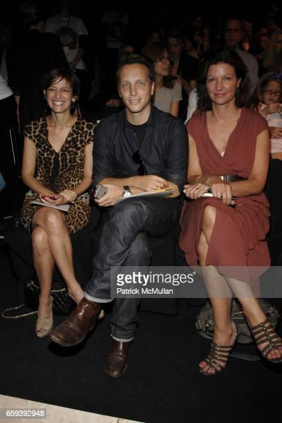 Cindi Leive Ariel Foxman and Cindy Weber Cleary attend DIANE VON FURSTENBERG Spring/Summer 2010 at The Tents on September 13 2009 in New York City