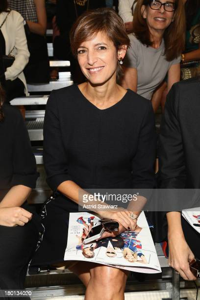 Cindi Leive attends the Tommy Hilfiger Women's fashion show during MercedesBenz Fashion Week Spring 2014 at Pier 94 on September 9 2013 in New York...