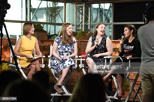 Cindi Leive Chelsea Clinton Lena Dunham and America Ferrera speak at the Glamour And Facebook Host Conversation With Cindi Leive Chelsea Clinton Lena...