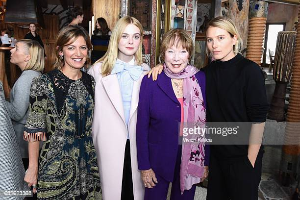 Cindi Leive Elle Fanning Shirley MacLaine and Dree Hemingway attend Lunch Celebrating Films Powered By Women Hosted By Glamour's Cindi Leive And...