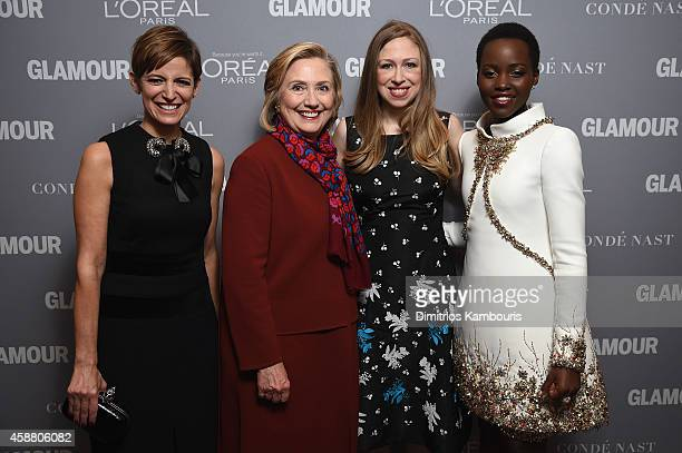 Cindi Leive Hillary Clinton Chelsea Clinton and Lupita Nyong'o attend the Glamour 2014 Women Of The Year Awards at Carnegie Hall on November 10 2014...