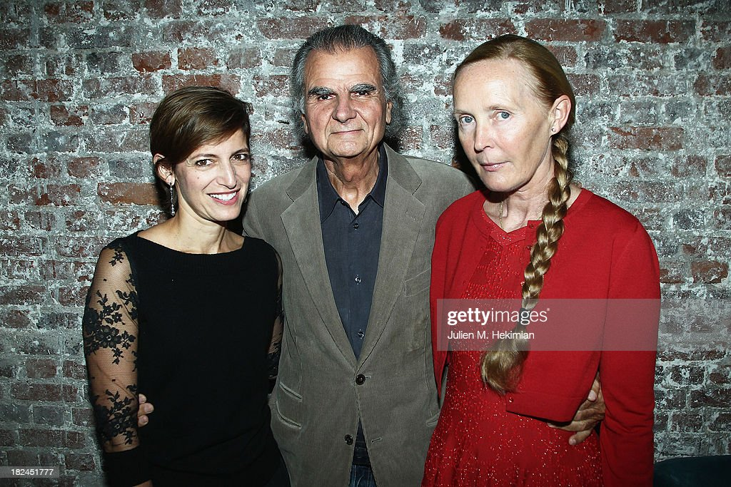 Cindi Leive, Patrick Demarchelier and Mia Demarchelier attend the Glamour dinner for Patrick Demarchelier as part of the Paris Fashion Week Womenswear Spring/Summer 2014 at Monsieur Bleu restaurant on September 29, 2013 in Paris, France.