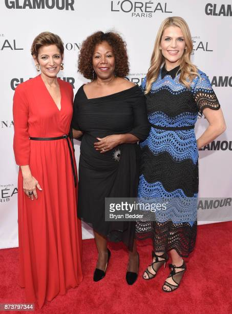 Cindi Leive Ruby Bridges and Alison Moore attend Glamour's 2017 Women of The Year Awards at Kings Theatre on November 13 2017 in Brooklyn New York