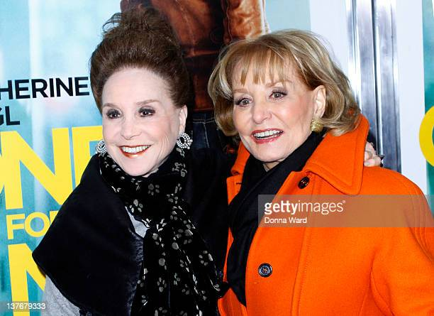Cindy Adams and Barbara Walters attend the One for the Money premiere at the AMC Loews Lincoln Square on January 24 2012 in New York City