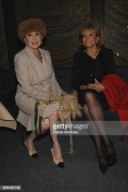Cindy Adams and Barbara Walters attend Thomas Dunne Books/St Martin's Press Party for TERRY MCAULIFFE'S Book WHAT A PARTY MY LIFE AMONG DEMOCRATS...