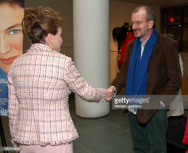 Cindy Adams and Chris Noonan Directo during Miss Potter Special Private Screening at MoMA Theatre in New York City New York United States