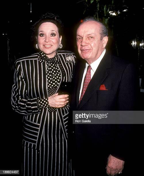 Cindy Adams and Joey Adams at the Darren McGavin's Birthday Party Regine's New York City