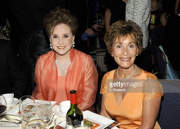 Cindy Adams and Judge Judy Sheindlin during 31st Annual American Women in Radio Television Gracie Allen Awards Inside at Mariott Marquis in New York...